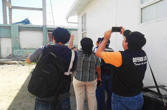 Defensa Civil inspecciona las Instituciones Educativas